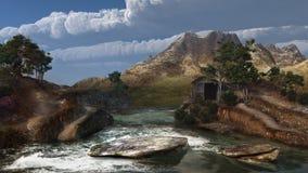Roaring mountain river Stock Image