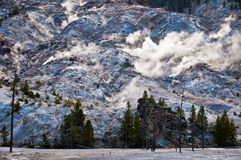 Roaring mountain, Yellowstone national park Stock Image