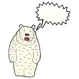Roaring polar bear cartoon Royalty Free Stock Photos