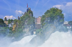 The Roaring Rhine Falls Royalty Free Stock Photos