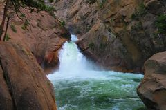 Roaring River Falls. Kings Canyon National Park, California, United States Stock Photography