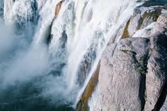 Roaring Shoshone waterfall in Twin Falls royalty free stock images