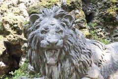 Roaring Stone Lion Stock Image
