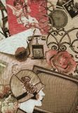 The roaring twenties in Paris. Vintage textile background on the theme of the roaring twenties in Paris for illustration Stock Photography
