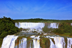 The roaring waterfalls in South America - Iguazu Royalty Free Stock Photo
