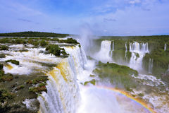The roaring waterfalls in South America - Iguazu Royalty Free Stock Images