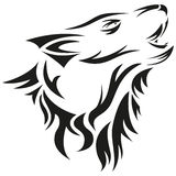 Roaring wolf Royalty Free Stock Images