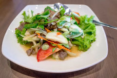 Roased beef spicy salad. Thai food -  Roased beef spicy salad Royalty Free Stock Photography