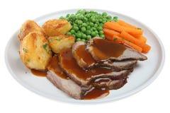 roast αρνιών γευμάτων στοκ εικόνα