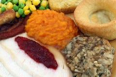 roast γευμάτων ημέρα των ευχαριστιών Τουρκία της Κυριακής Στοκ Φωτογραφία