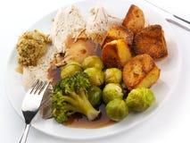 roast γευμάτων κοτόπουλου Στοκ φωτογραφίες με δικαίωμα ελεύθερης χρήσης