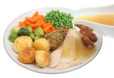 roast ζωμού γευμάτων κοτόπου&lamb στοκ φωτογραφία με δικαίωμα ελεύθερης χρήσης