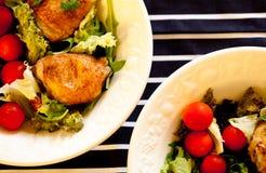 roast κοτόπουλου σαλάτα Στοκ εικόνα με δικαίωμα ελεύθερης χρήσης
