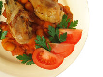 roast κοτόπουλου Στοκ Εικόνες