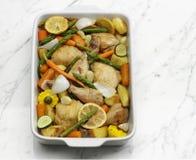roast κοτόπουλου λαχανικό στοκ φωτογραφία