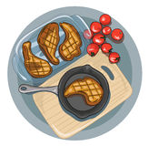 Roast κρέας Διανυσματική απεικόνιση