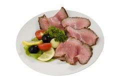 roast κρέατος φέτες στοκ εικόνες