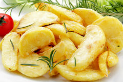 roast πατατών δεντρολίβανο Στοκ Εικόνες