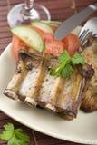 roast πλευρών χοιρινού κρέατο&si Στοκ Εικόνες