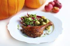 roast ποδιών χήνων λαχανικά σαλά& Στοκ Φωτογραφίες