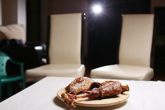 Roast πόδι του αρνιού Στοκ Φωτογραφία