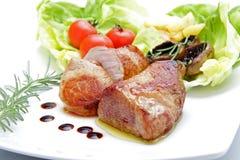 roast χοιρινού κρέατος ανασκόπησης λευκό Στοκ φωτογραφία με δικαίωμα ελεύθερης χρήσης
