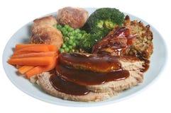roast χοιρινού κρέατος γευμάτων Στοκ Εικόνες