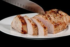 Roast χοιρινό κρέας Στοκ εικόνα με δικαίωμα ελεύθερης χρήσης