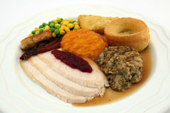 roast γευμάτων ημέρα των ευχαριστιών Τουρκία της Κυριακής Στοκ εικόνα με δικαίωμα ελεύθερης χρήσης