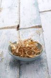 Roast asian coconut in cup Royalty Free Stock Photos