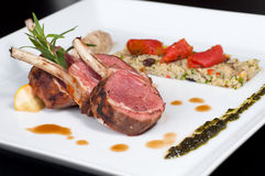 Roast Australian Lamb with couscous Royalty Free Stock Photography