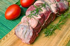 Roast beef. Fresh meat of beef ready for roasting Stock Photography
