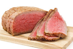 Roast Beef. Sliced on cutting board Stock Images