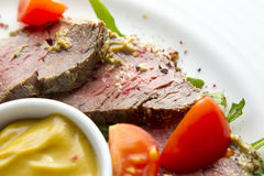 Roast Beef Appetizer Royalty Free Stock Photos