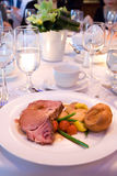 Roast Beef at Banquet Royalty Free Stock Images