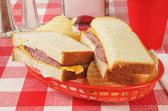 Roast beef and cheese sandwich Royalty Free Stock Photography