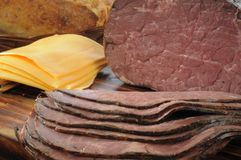 Roast beef and cheese Stock Photography