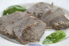 Roast beef of chianina Stock Photos