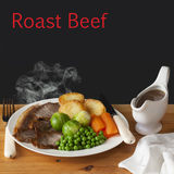 Roast Beef Concept Royalty Free Stock Images