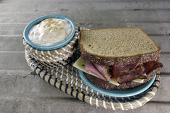 Roast Beef Deli Sandwich Stock Images