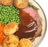 Roast Beef Dinner Royalty Free Stock Image