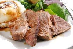 Roast beef dinner Royalty Free Stock Photos