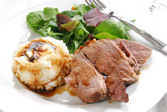 Roast beef dinner Stock Images