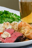 Roast Beef Dinner Stock Photo