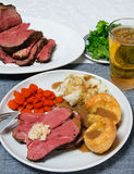 Roast Beef Dinner Stock Photos