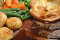 Free Roast Beef Dinner Stock Photo - 3461290
