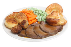 Roast Beef Dinner Royalty Free Stock Photos