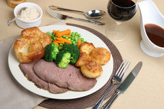 Roast Beef Dinner Stock Image