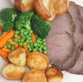 Roast Beef Dinner Stock Image