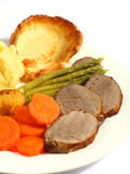 Roast beef dinner vertical Stock Photography